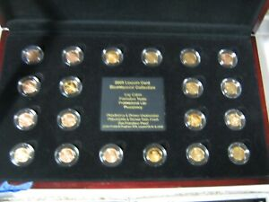 2009 LINCOLN CENT BICENTENNIAL COLLECTION IN WOODEN DISPLAY CASE