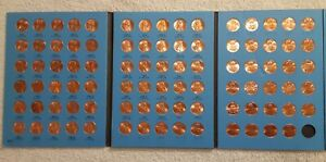 LINCOLN MEMORIAL PENNY CENT WHITMAN COLLECTION ALBUM 1975   2013 P D 89 COINS