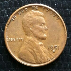1951 D LINCOLN WHEAT CENT