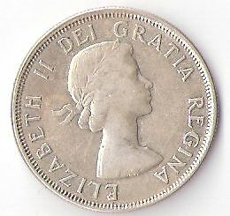 Click now to see the BUY IT NOW Price! 1956 CANADA ELIZABETH II HALF DOLLAR  S14