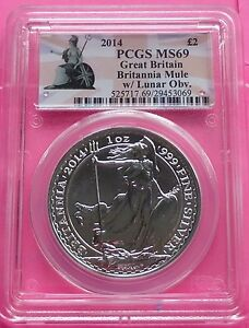 Click now to see the BUY IT NOW Price! 2014 ROYAL MINT BRITANNIA ' MINT ERROR / MULE ' SILVER  2  1OZ COIN PCGS MS69