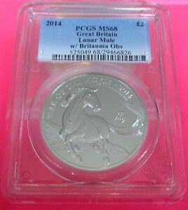 Click now to see the BUY IT NOW Price! 2014 ROYAL MINT LUNAR HORSE ' MINT ERROR / MULE ' SILVER  2  1OZ COIN PCGS MS68