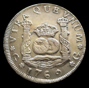 Click now to see the BUY IT NOW Price! 1769 G P SILVER GUATEMALA 4 REALES PILLAR & WAVES CHARLES III COIN AU
