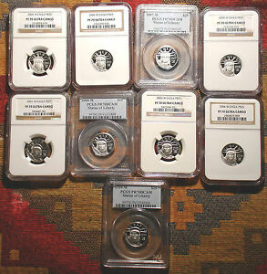 Click now to see the BUY IT NOW Price! TOP GRADED NINE COIN SET  PLATINUM EAGLE BEAUTIES PCGS PR70 NGC PF70 KEA YEARS