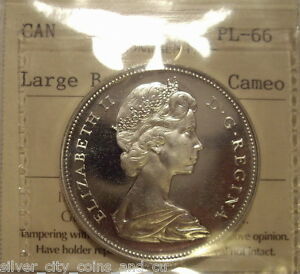 Click now to see the BUY IT NOW Price! CANADA ELIZABETH II 1966 LG BEADS SILVER DOLLAR   ICCS PL 66 HC  XNK 461