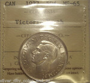 Click now to see the BUY IT NOW Price! CANADA GEORGE VI 1937 SILVER 50 CENTS   ICCS MS 65 VICTORIA NORTH