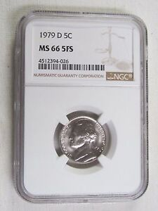 Click now to see the BUY IT NOW Price! 1979 D JEFFERSON NICKEL   NGC MS 66 5FS FIVE FULL STEPS