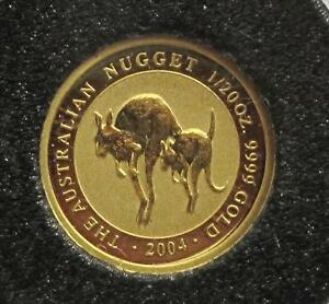 2004 AUSTRALIA $5 DOLLARS 9999 GOLD COIN NUGGET  BU