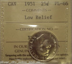Click now to see the BUY IT NOW Price! CANADA GEORGE VI 1951 LOW RELIEF SILVER 25 CENT   ICCS PL 66