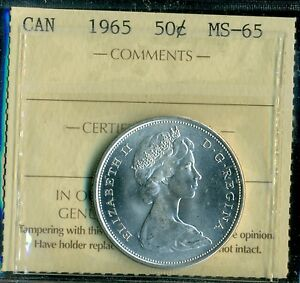 Click now to see the BUY IT NOW Price! 1965 CANADA FIFTY CENT PIECE QUEEN ELIZABETH II ICCS CERTIFIED MS 65
