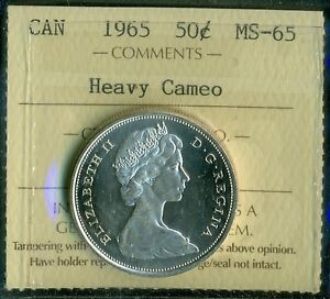 Click now to see the BUY IT NOW Price! 1965 CANADA FIFTY CENT PIECE QUEEN ELIZABETH II ICCS CERTIFIED MS 65 HEAVY CAM