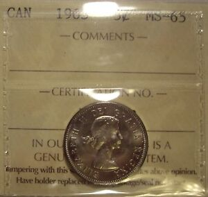 Click now to see the BUY IT NOW Price! CANADA ELIZABETH II 1963 FIVE CENTS   ICCS MS 65  XKD 792