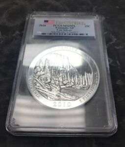 Click now to see the BUY IT NOW Price! 2010 FIRST STRIKE PCGS YOSEMITE NAT'L PARK SILVER 5OZ.  CALIFORNIA