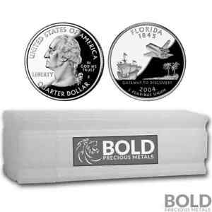 Click now to see the BUY IT NOW Price! 2004 S SILVER PROOF STATE QUARTER ROLL  40 COINS    FLORIDA