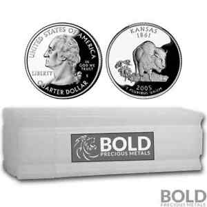 Click now to see the BUY IT NOW Price! 2005 S SILVER PROOF STATE QUARTER ROLL  40 COINS    KANSAS