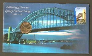 2007 PNC CELEBRATING 75 YEARS OF SYDNEY HARBOUR BRIDGE UNC AUSTRALIA $1 COIN   S