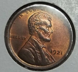 Click now to see the BUY IT NOW Price! 1921 P LINCOLN CENT BU .. NICE RB.. MUCH MINT LUSTER REMAINING