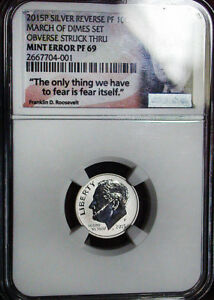 Click now to see the BUY IT NOW Price! 2015P NGC PF69 REVERSE PROOF ROOSEVELT DIME