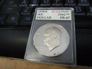1978 S $1 DC  PROOF  IKE DOLLAR UNCIRCULATED SLABBED
