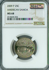 Click now to see the BUY IT NOW Price! 2009 P AMERICAN SAMOA QUARTER  NGC MAC MS 68 PQ FINEST POP 5  SPOTLESS .
