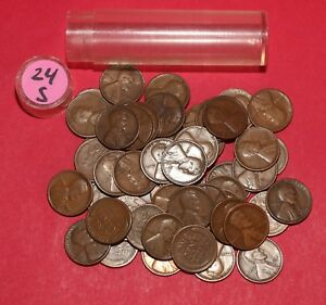 Click now to see the BUY IT NOW Price! 1924 S LINCOLN WHEAT CENT ROLL  50 COINS    NICE LOT