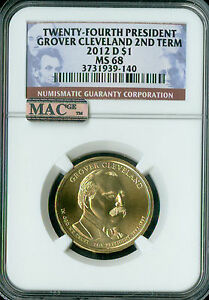 Click now to see the BUY IT NOW Price! 2012 D GROVER CLEVELAND 2ND PRES. DOLLAR NGC MAC MS68 PQ FINEST SPOTLESS  .