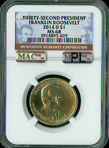 Click now to see the BUY IT NOW Price! 2014 D FRANKLIN ROOSEVELT PRES. DOLLAR NGC MAC MS 68 PL PQ FINEST SPOTLESS .