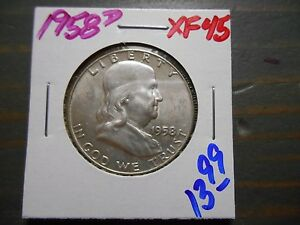 1958 D FRANKLIN HALF DOLLAR    1749