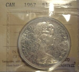 Click now to see the BUY IT NOW Price! CANADA ELIZABETH II 1967 DBLD ELIZABETH II SILVER DOLLAR   ICCS PL 65  XJH 781