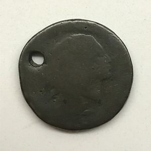 1793 1C WREATH CENT: VINES AND BARS EDGE: HOLED 1