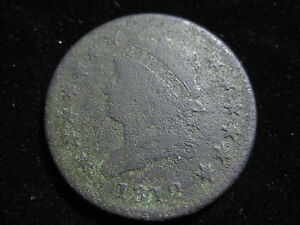 1812 CLASSIC HEAD LARGE CENT COIN