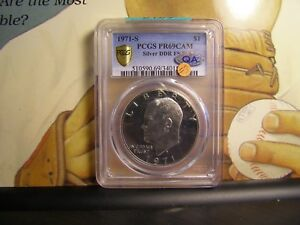 Click now to see the BUY IT NOW Price! 1971 S PCGS PR 69 CAM SILVER DDR FS 801 HIGHEST POP NONE HIGHER