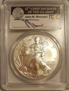 Click now to see the BUY IT NOW Price! 2011 W MERCANT LABEL SILVER EAGLE PCGS MS70 FS 25TH ANNIVERSARY SET