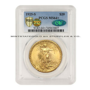 Click now to see the BUY IT NOW Price! 1925 S $20 SAINT GAUDENS PCGS MS64  GOLD DOUBLE EAGLE PQ APPROVED CAC CERTIFIED