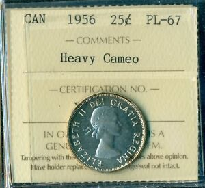 Click now to see the BUY IT NOW Price! 1956 CANADA QUEEN ELIZABETH II TWENTY FIVE CENT ICCS PL 67 HEAVY CAMEO  WOW