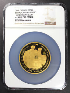 Click now to see the BUY IT NOW Price! 2008 CANADA GOLD $500 100TH ANNIVERSARY ROYAL CANADIAN MINT NGC PR 69 UC  166690