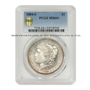 Click now to see the BUY IT NOW Price! TRUE RARITY 1884 S $1 MORGAN SILVER DOLLAR PCGS MS64  GORGEOUS SEMI PL SURFACES