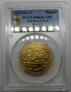 Click now to see the BUY IT NOW Price! PCGS PR64CAM INDIA BENGAL PRESIDENCY AH1202//19 1 MOHUR MONEDA ORO MUY RARA