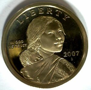 2007  S SACAGAWEA GOLDEN DOLLAR NATIVE AMERICAN PROOF COIN US MINT MADE IN USA