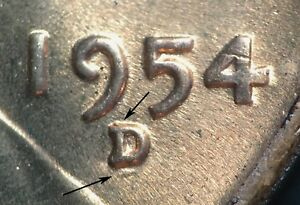 Click now to see the BUY IT NOW Price! 1954 D/D/D LINCOLN WHEAT CENT RPM 002  NORTH SOUTH    B/U