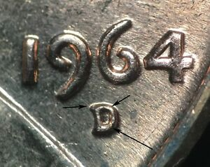Click now to see the BUY IT NOW Price! 1964 D/D LINCOLN MEMORIAL CENT RPM 014 B/U