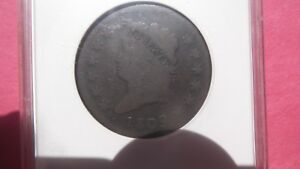 1809 LARGE CENT CLASSIC HEAD. KEY DATE. G4 ANACS 1C  COIN.