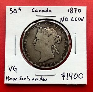 Click now to see the BUY IT NOW Price!  1870 NO LCW SILVER HALF DOLLAR 50 CENT COIN   NICE VG  MINOR SCR'S ON REV