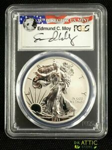 Click now to see the BUY IT NOW Price! 2011 P SILVER EAGLE REVERSE PROOF PR70 PCGS EDMUND MOY POP33