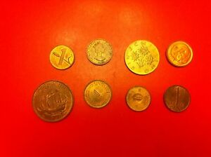 WORLD COINS LOT OF COLLECTION 1 CENT 1 PENNY 1 RAPPEN 1970 1 ORE 1956  1060