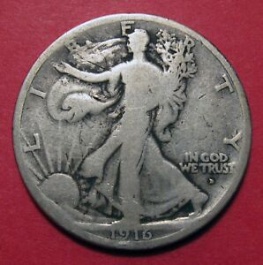 Click now to see the BUY IT NOW Price! 1916 D WALKING LIBERTY HALF DOLLAR   LOW MINTAGE FIRST YEAR