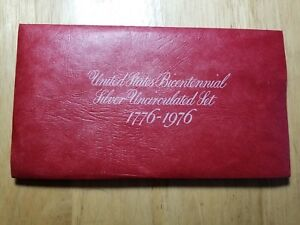 LOT OF  3  U.S. BICENTENNIAL SILVER PROOF SETS  1776 1976  3  COIN FLAT PACK