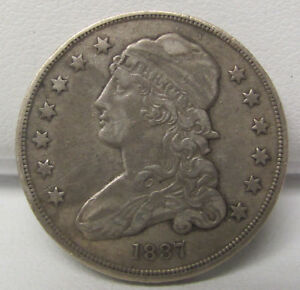 1837 CAPPED BUST QUARTER DOLLAR XF NICE COIN C1198