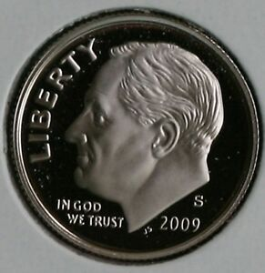 2009 S CLAD PROOF ROOSEVELT DIME TEN CENTS COIN 10C FROM US MINT PROOF SET