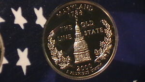 2000 S MARYLAND PROOF STATE QUARTER BEAUTIFUL CAMEO 195A9